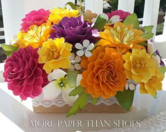 Paper Flower Centerpiece Table Arrangement by morepaperthanshoes ...