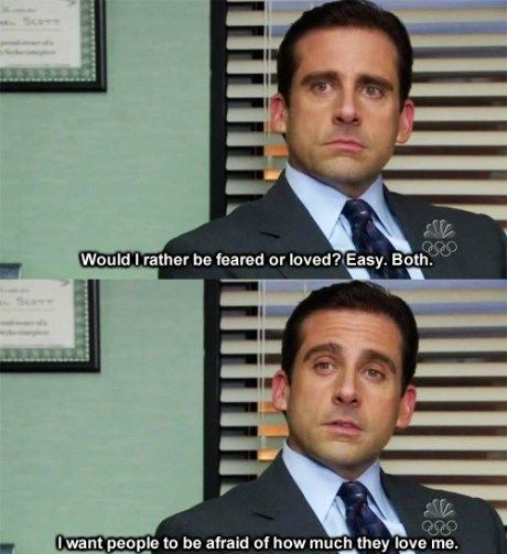 Micheal Scott, why I love The Office.