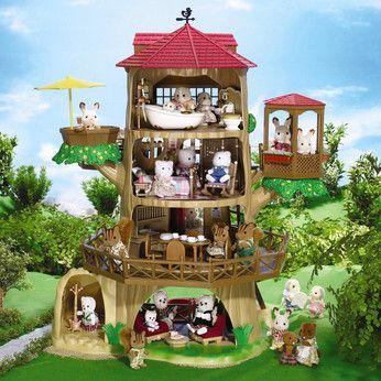 Afficher l 39 image d 39 origine sylvanian family pinterest juguetes casa del arbol y juguetes - Casitas de tela para ninos toysrus ...