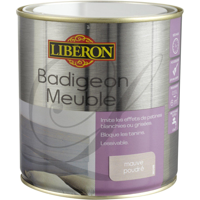 Lasure Badigeon Meuble Liberon Mauve Poudré 05 L Leroy