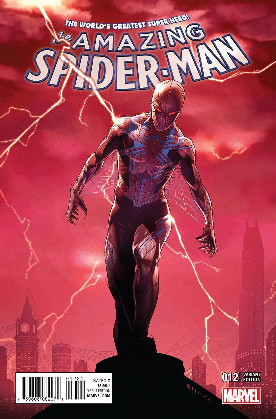 amazing spider-man vol 4 #12 cover b variant jamal campbell nm first