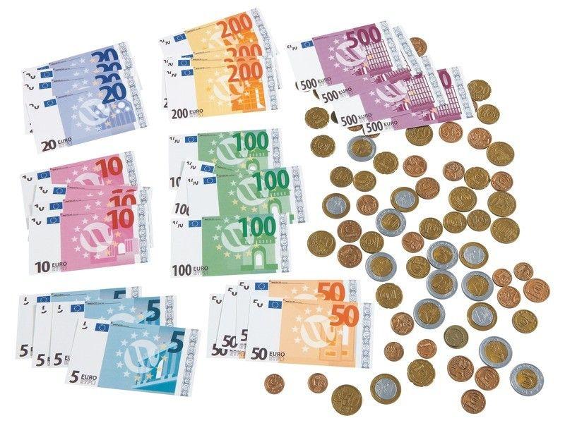 kit de 56 billets et 120 pi ces en euros billets pi ces de monnaie et piece de monnaie. Black Bedroom Furniture Sets. Home Design Ideas