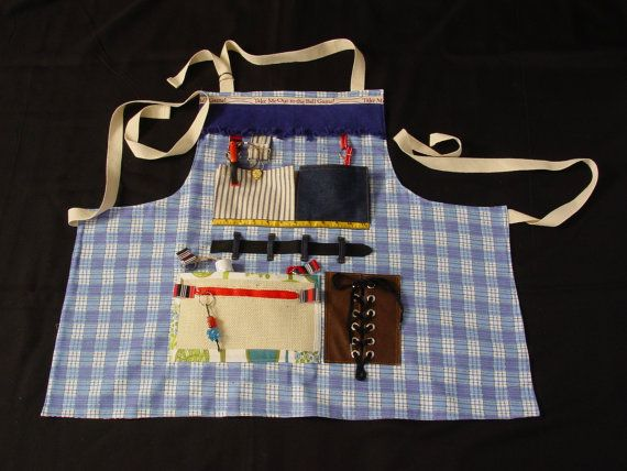 Fidget Apron Busy Fingers Tactile Bright By EndearingDignite 4000