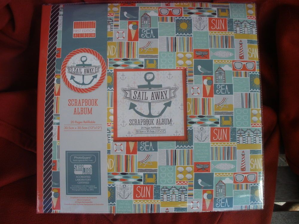 Docrafts papermania - scrapbook album - sail away - 12 x 12