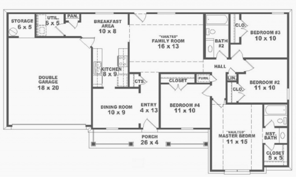 Inspirational One Story House Layout Awesome 4 Bedroom E Story Ranch House Plans 5 Intended For Luxury 5 Bedroom Ranch House Plans In 2020 Four Bedroom House Plans Bedroom House Plans Ranch House Plans