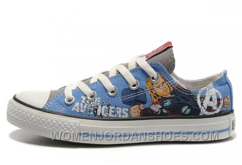 7bf6c86e296a Shop for Thor CONVERSE Shoes Marvel Comics The Avengers Blue Canvas Lastest  at Footlocker.