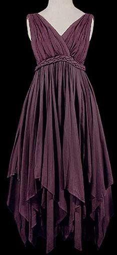 Dark Purple Goddess Dress
