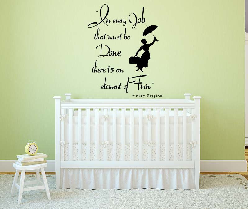 Mary Poppins Quote Wall Decal Cartoon Decals For Nursery Etsy Wall Decals For Bedroom Disney Wall Decals Kids Wall Decals