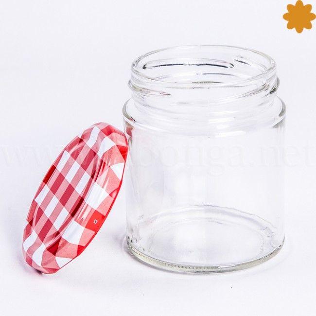 Tarro de cristal peque o cil ndrico con tapa enroscada - Tarro cristal con tapa ...