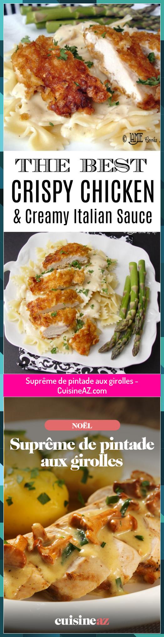 Suprême de pintade aux girolles - CuisineAZ.com #aux #CuisineAZcom #girolles #pintade #Supreme
