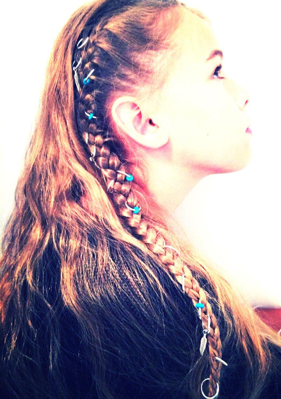 pc set hair rings hair jewelry hair braid rings french braid