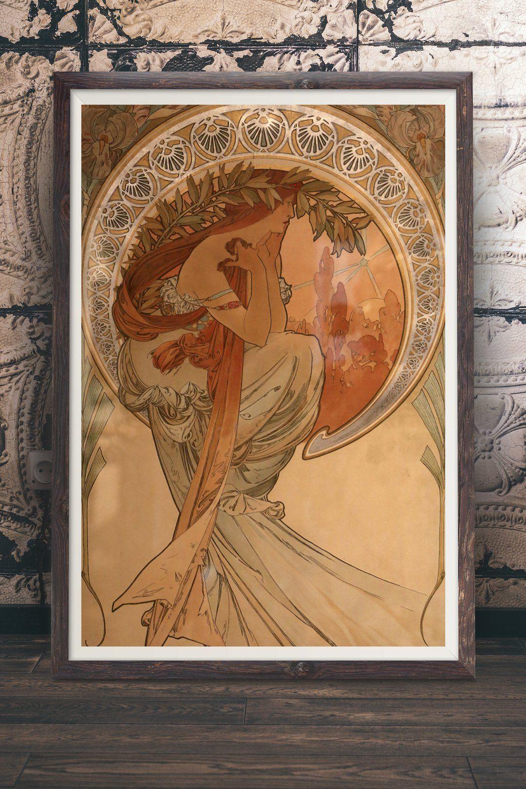 Alphonse Mucha Miramare Ver 1 Art Nouveau Decor In 2018