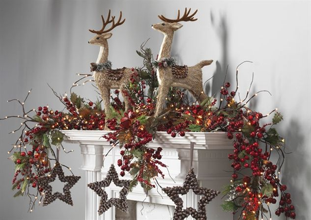 Christmas Mantle Idea nice and simply beautiful Christmas Decor - christmas decor pinterest
