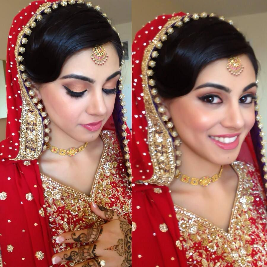 bridal hair makeupm dupatta setting | bridal | pinterest | bridal