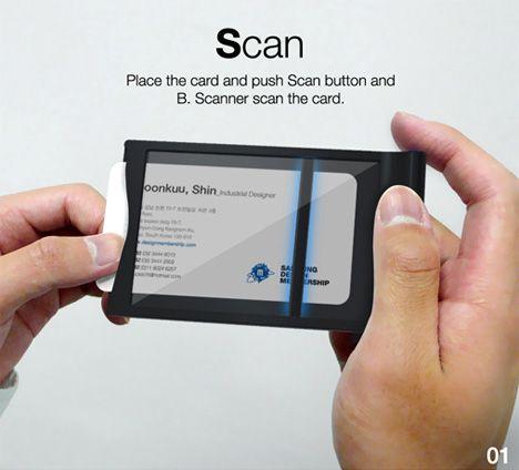B Scanner By Sungwoo Park Bongkun Shin Business Card Scanner Business Cards Cards