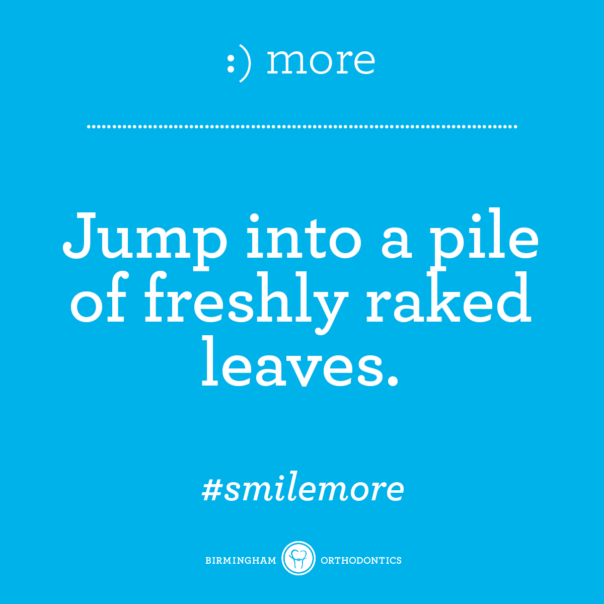We're so close to fall, y'all. #smilemore