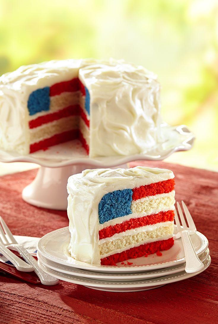 American Flag Cake Recipe American Flag Cake Desserts 4th Of July Desserts
