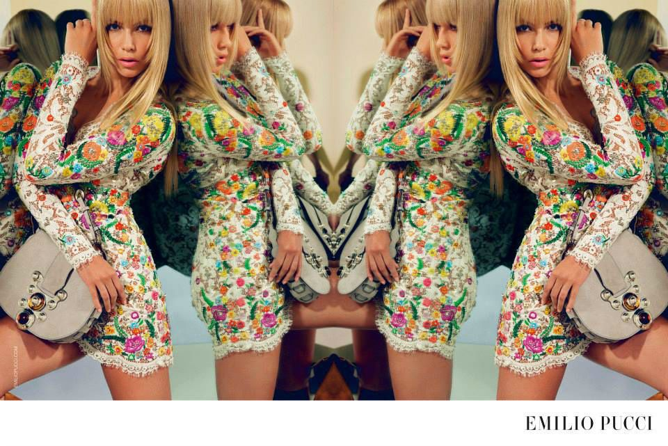 Natasha Poly for Emilio Pucci Spring Summer 2015 Advertising Campaign