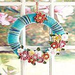 Free Crochet April Flowers Wreath Pattern