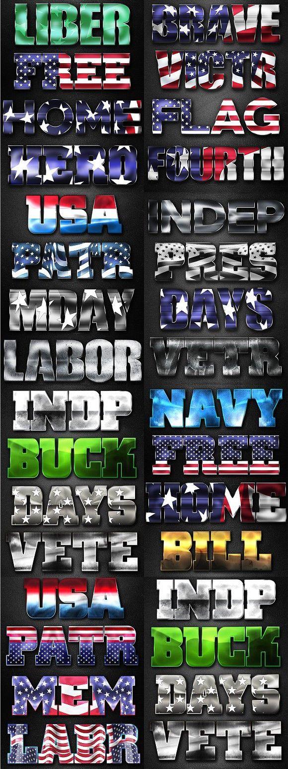 Patriotic Layer Styles. Photoshop Textures