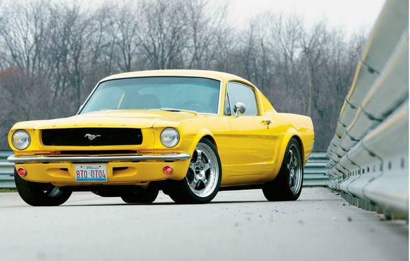Wallpaper 1965 Ford Mustang Muscle Car Wallpaper