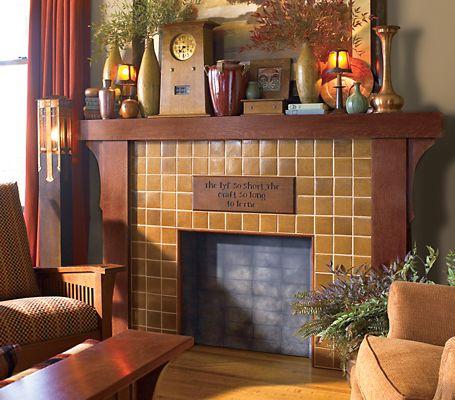 Craftsman Fireplaces On Pinterest Tile Fireplace