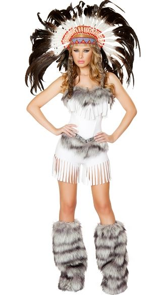deluxe white indian costume sexy native american costume halloween - Native American Costume Halloween