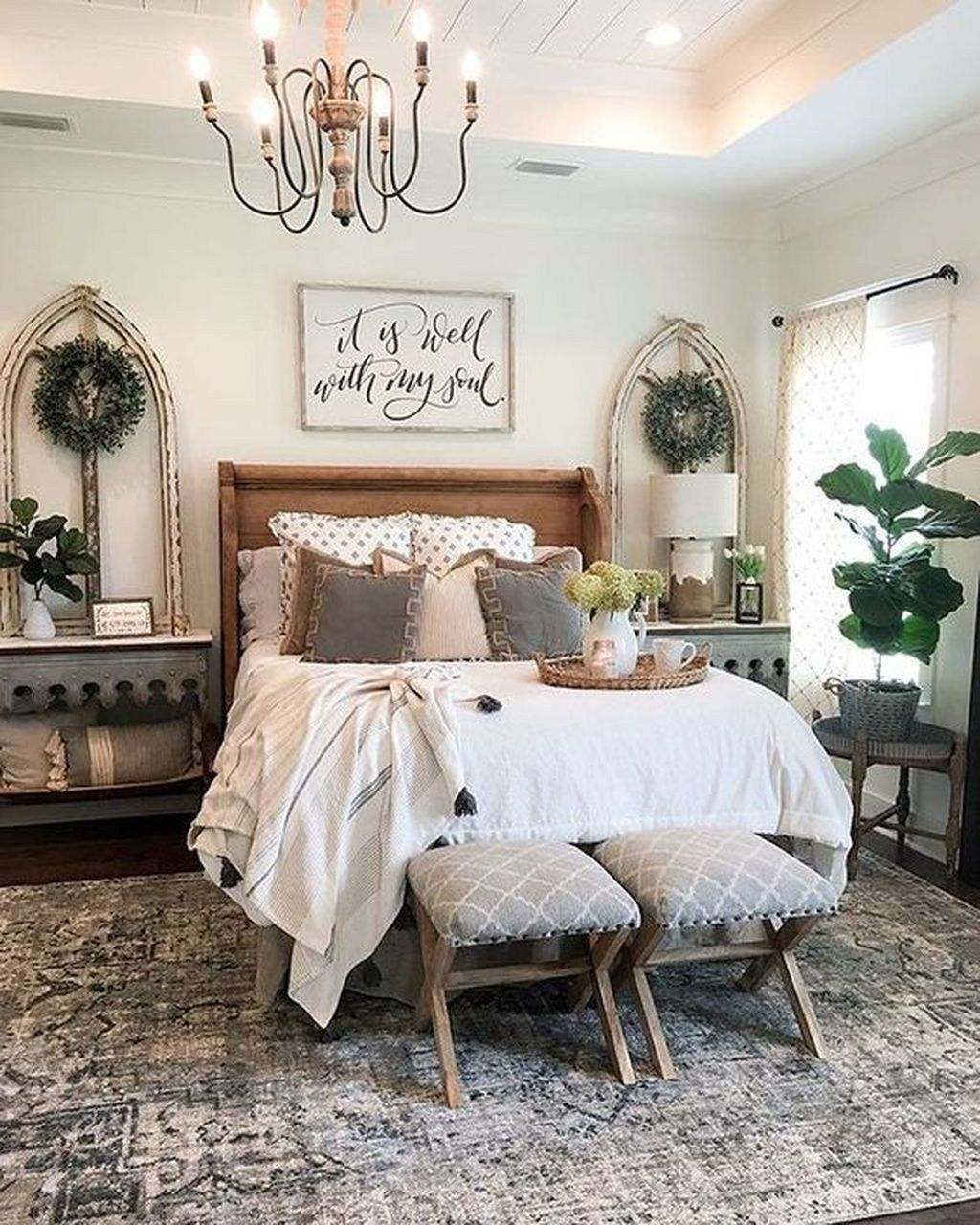 50 Farmhouse Master Bedroom Design Ideas Match For Any Room Page 35 Of 50 Choti Dec Home Decor Bedroom Farmhouse Style Master Bedroom Master Bedroom Design