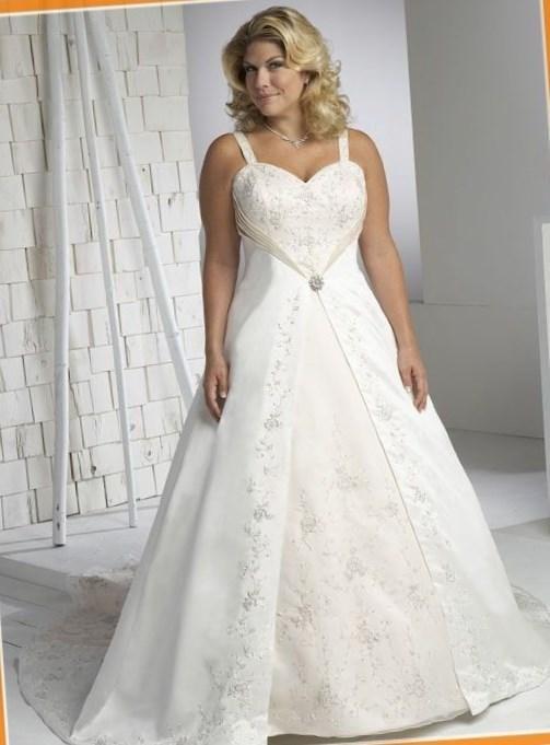 Wedding dresses plus size under 100 - http://pluslook.eu/party ...