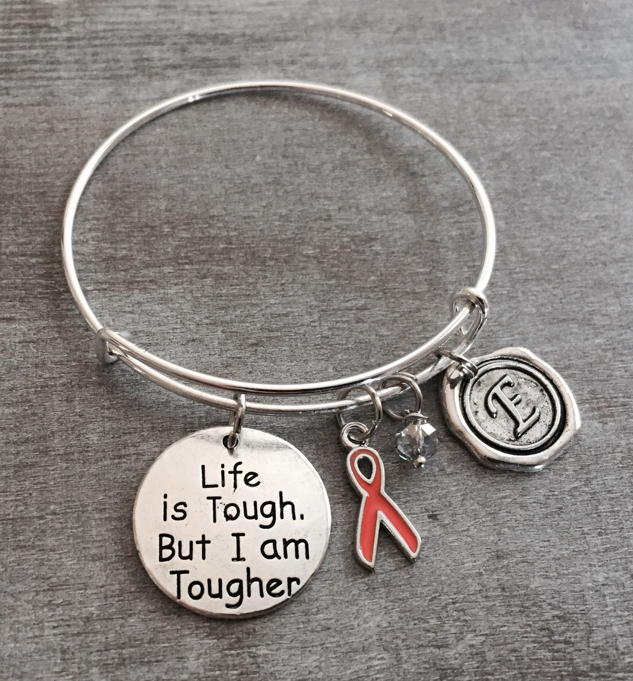 bracelet shop cancerfreeme awareness orange go com leukemia to etsy pin