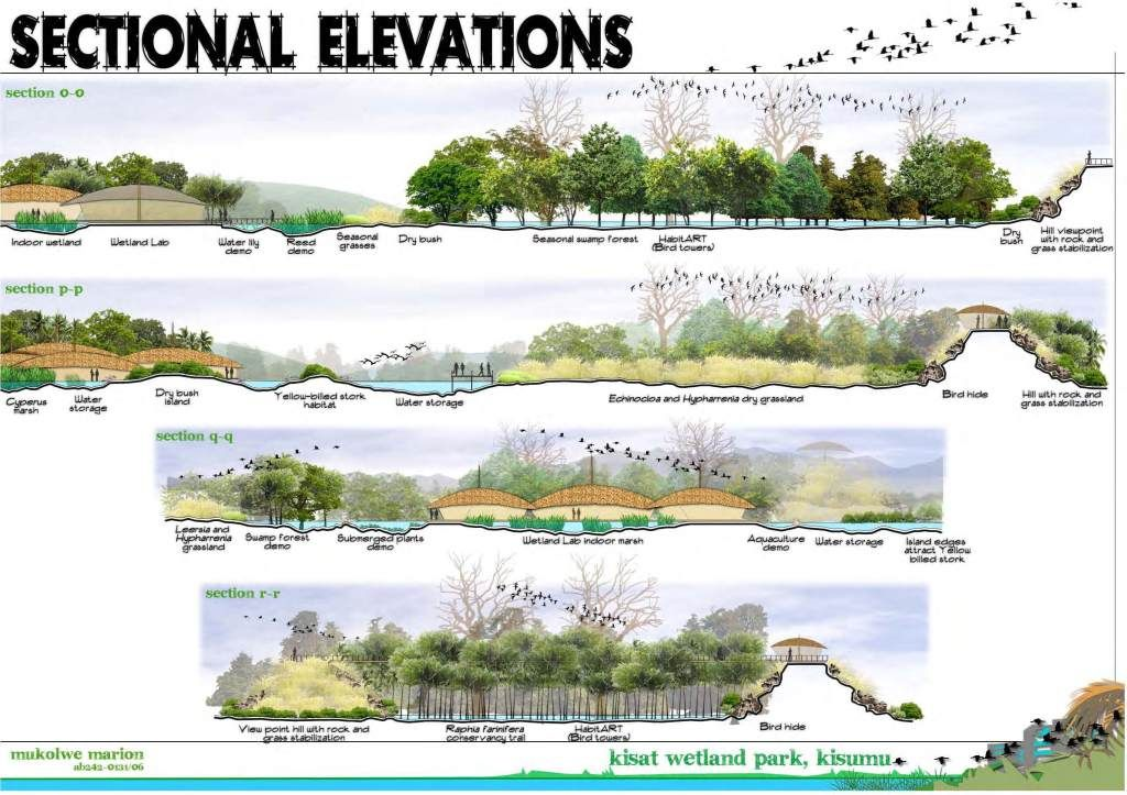 Wetland Research Sections 조경설계 조경 포토샵
