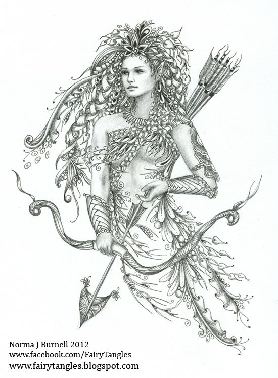 elf zentangle doodles by norma burnell