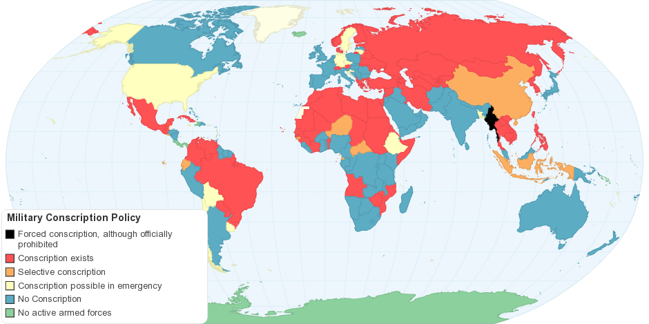 Military conscription policy by country maps pinterest military conscription policy by country military serviceworld mapscountrygoogle gumiabroncs Image collections