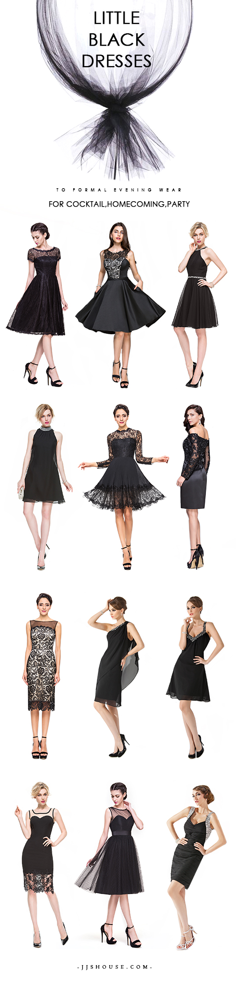 Little black dress for wedding party  Little Black Dresses to formal evening wear For CocktailHomecoming