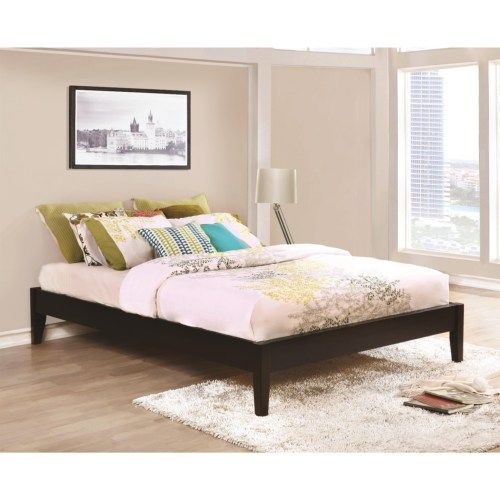 Coaster Hounslow Queen Platform Bed in Cappuccino Finish - Coaster ...