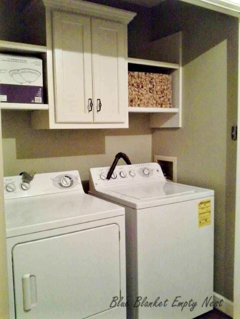 laundry room makeover making the most with small spaces diy smalspaces laundryroommakeover. Black Bedroom Furniture Sets. Home Design Ideas