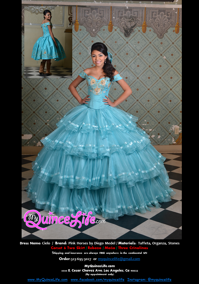 40a7960d0f4 Three piece quinceanera dress. Long skirt