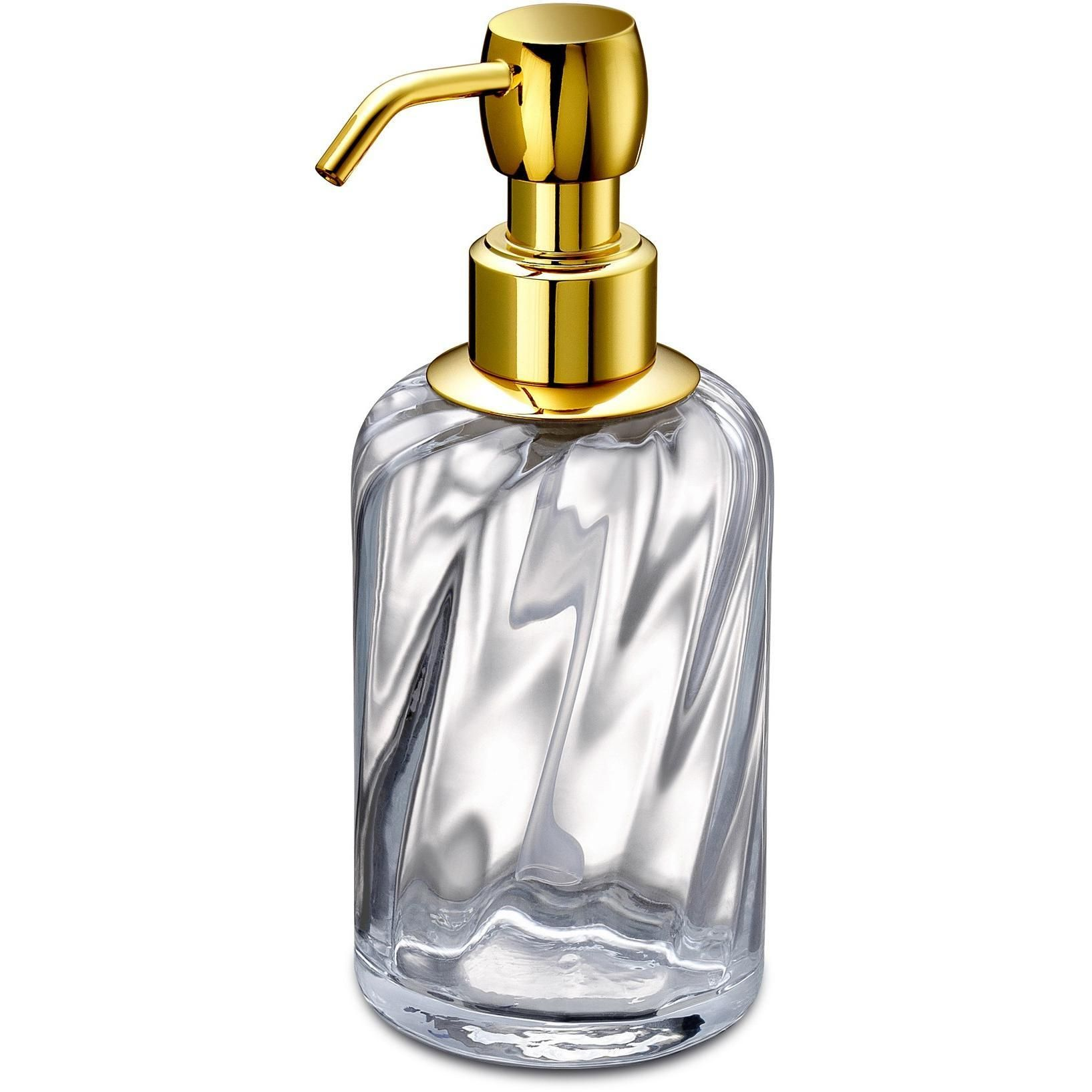 Spiral Clear Glass Table Pump Liquid Soap Lotion Dispenser for ...