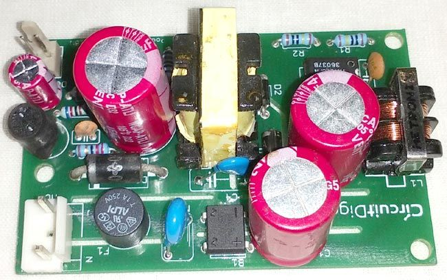 12v SMPS Power Supply Circuit on PCB (With images)   Power ...