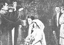 Frames from the film of the marriage of Daniel Marvin and Mary Farquarson on Titanic (Daily Mirror, May 15 1912)