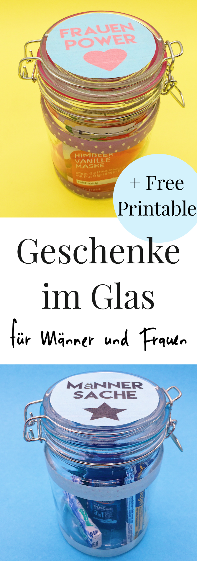 diy geschenke im glas selber machen happy dings diy tipps pinterest geschenkideen f r. Black Bedroom Furniture Sets. Home Design Ideas