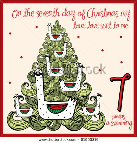 the 12 days of christmas - seventh day - seven swans a swimming ...