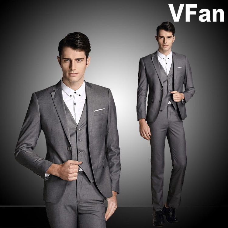 Jacket+Pants+Vest)GentlemenTuxedo Dress Suits New Designer Groom ...