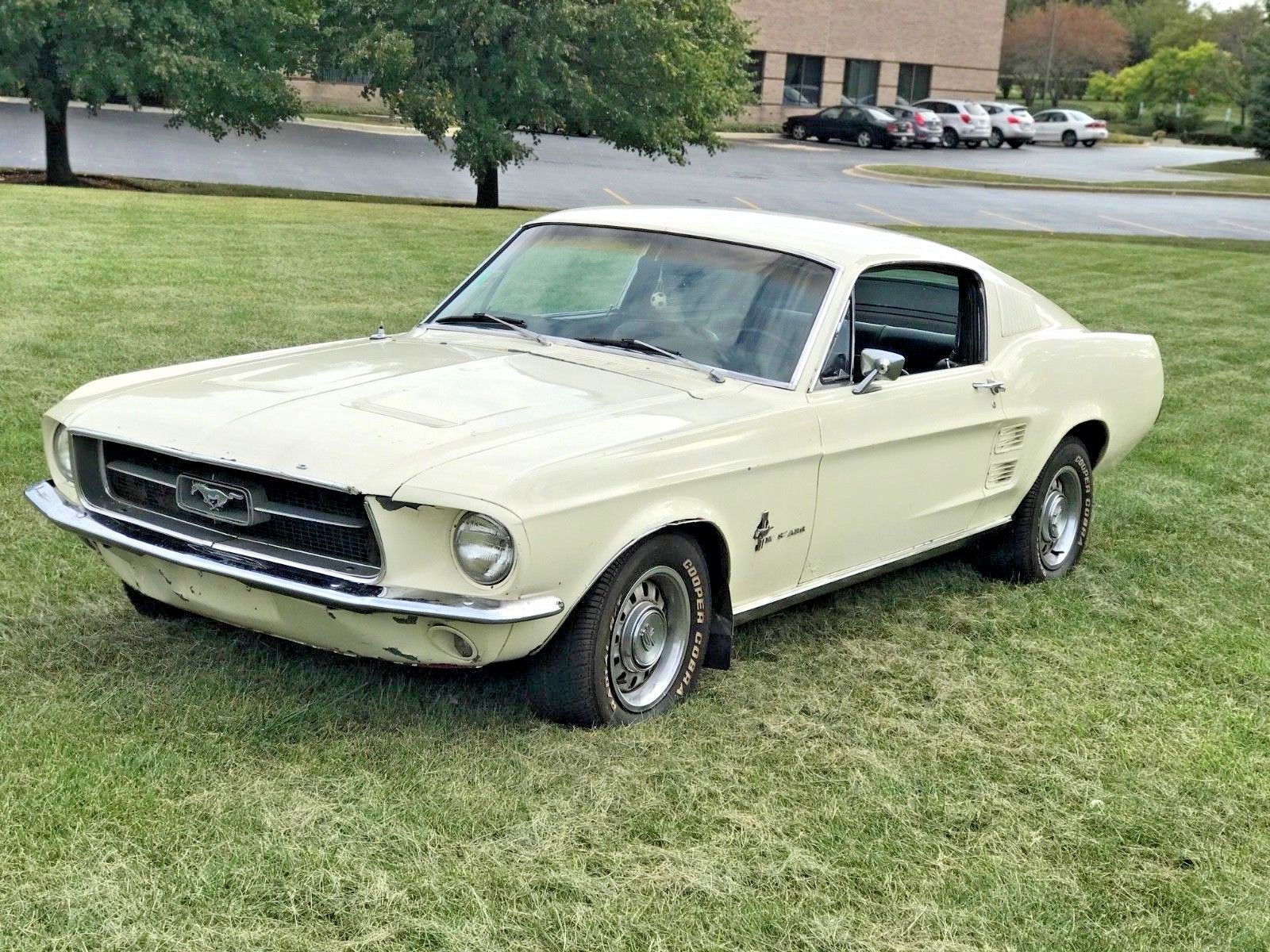 Ebay 1967 ford mustang 1967 ford mustang fastback 1 owner c code 289 wimbledon white black interior fordmustang ford