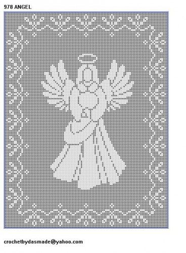 10 Christmas Filet crochet patterns nativity Santa Angels reindeer ...