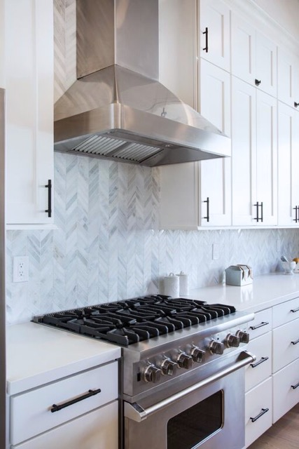 Walltilewednesday Features An Amazing Installation Of Our Winter Frost Chevron White Modern Kitchen Kitchen Inspirations Kitchen Renovation
