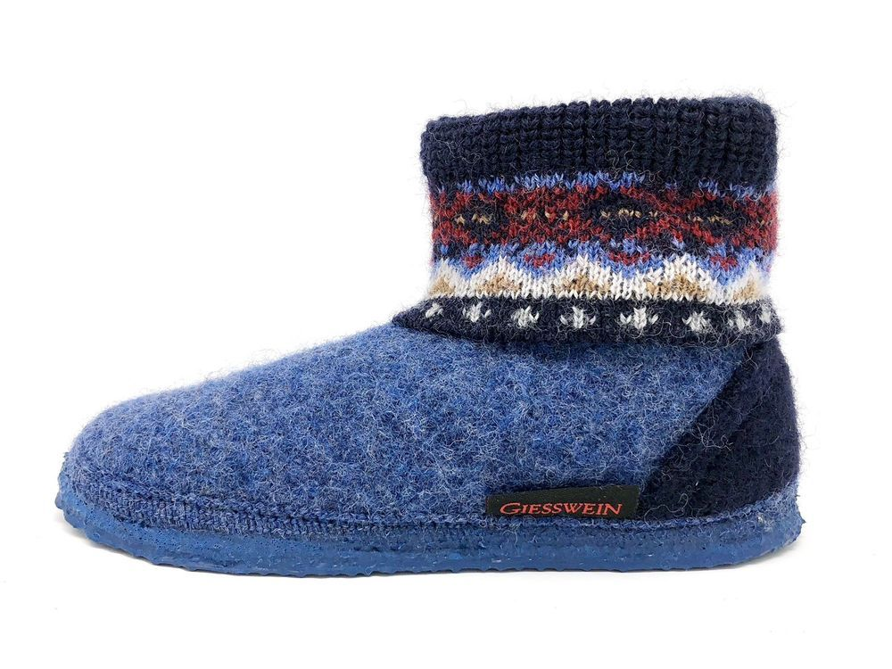666c0d04eb624 Giesswein Kids SLIPPER BOOT EU 29   11.5 US Boiled Wool Unisex Blue  Childrens