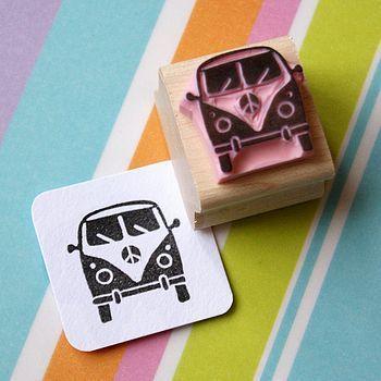 Mini Camper Van Rubber Stamp #rubberstamping