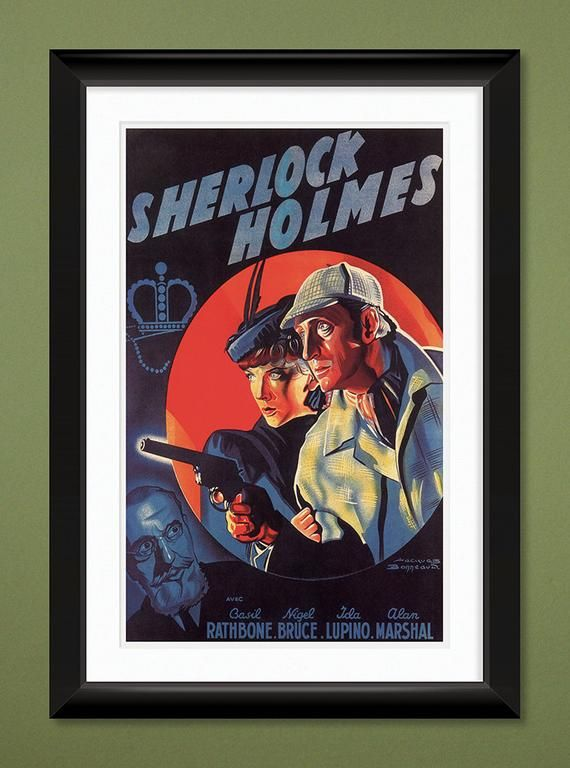 Vintage Movie Poster – Sherlock Holmes 1939 (12×18 Heavyweight Art Print)
