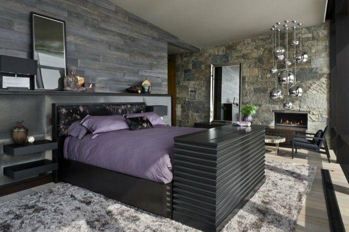 Ideen Für Wandgestaltung Steinwand Schlafzimmer Einrichten Ideen Graunuancen